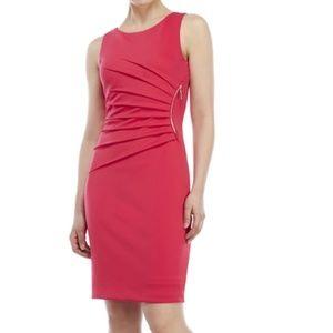 Ivanka Trump Denim Blue Starburst Pleated Dress